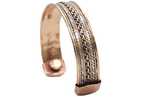 Ful Magnetic Copper Cuff Bracelet For Arthritis And Golf Sports Aches Pains