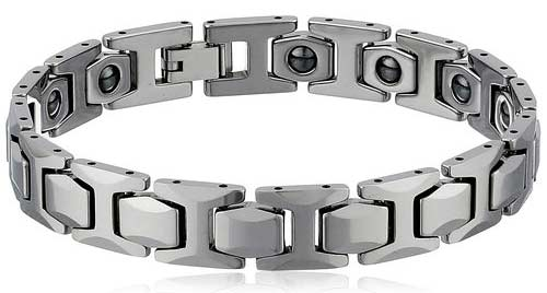 Tungsten High Polished Magnetic Therapy Bracelet