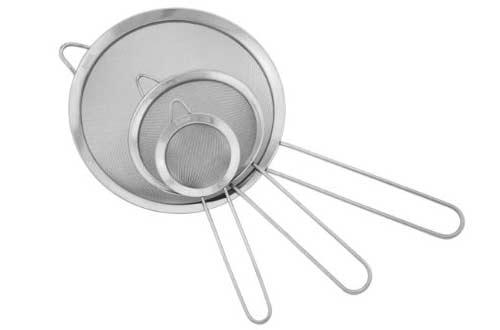 Ipow Stainless Steel Fine Tea Mesh Strainer Colander