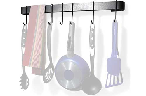 Kitchen Hanging Pan Rack with 8 Hooks for Hanging Pots and Pans