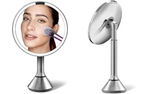 round vanity mirror with lights