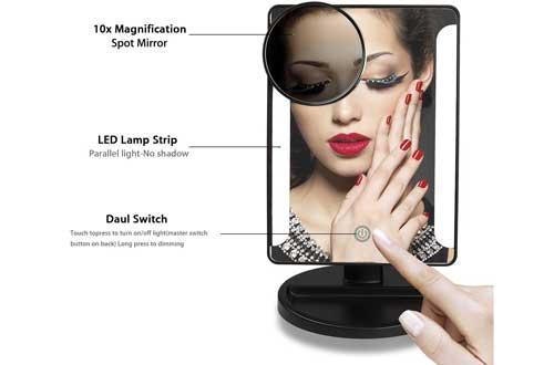 Illuminated Makeup Mirror with LED Lights