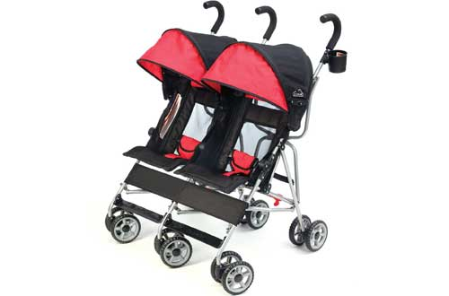 Double Side by Side Stroller with Umbrella