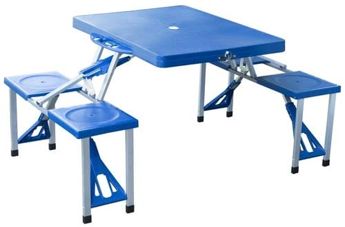 Portable Folding Outdoor Camp Suitcase Picnic Table