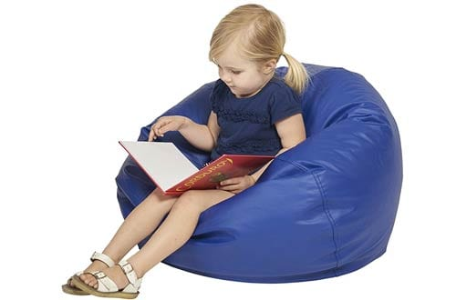 Classic Blue Junior ECR4 Kids Bean Bag Chair, 26u201d