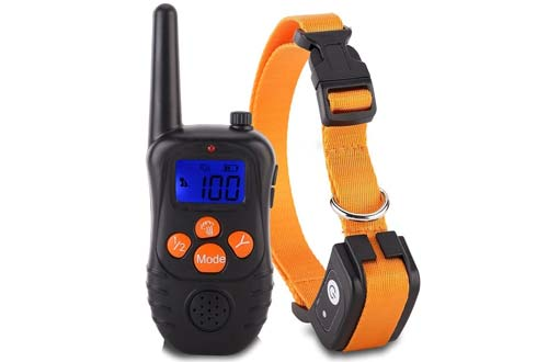 Electric Dog Shock Collar Rechargeable Backlight LCD Screen