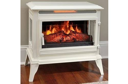 Cream Infrared Electric Fireplace Stove with Remote Control