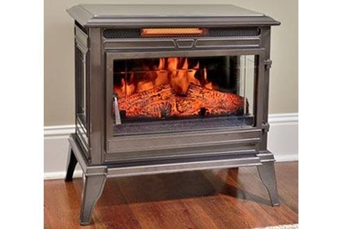 Comfort Smart Jackson Bronze Infrared Electric Fireplace Stove