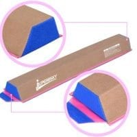 Balance Beam for gymnastics training, 4' long and Suede Surface, for home school gym use