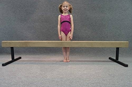 "Padded Sued 8-Foot Balance Beam with 12"" Riser Legs"