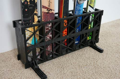 Ski Storage Rack | Freestanding Multi Skis Floor Rack