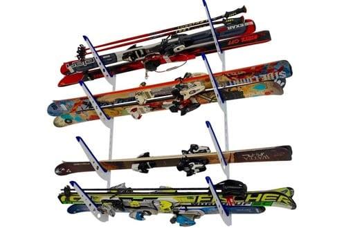 Metal Ski Storage Rack | Adjustable Skis Home Wall Mount