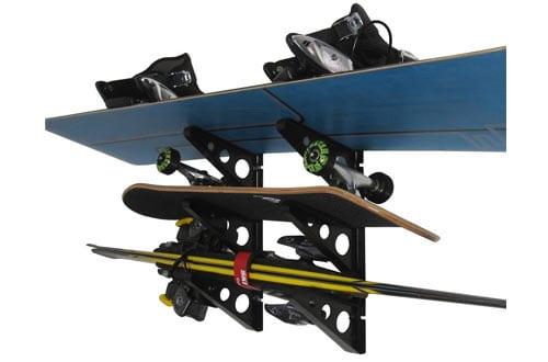 Horizontal Wall Ski Storage Rack by StoreYourBoard