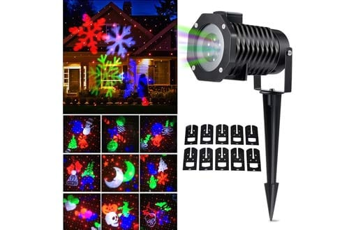 Christmas LED Laser Light Shows Rotating Outdoor Projection Lights