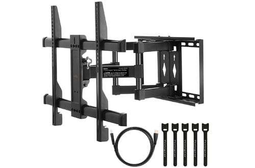TV Wall Mount Bracket Full Motion Dual Articulating Arm