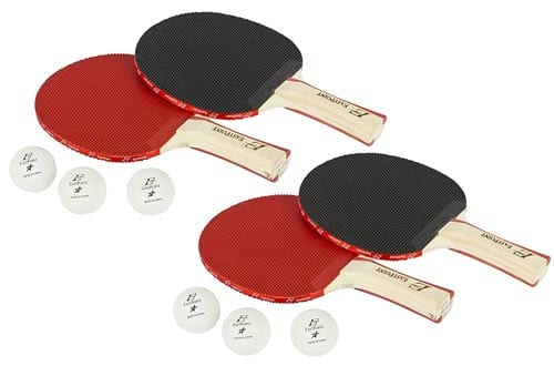 EastPoint Sports 4-Player Paddle & Ball Set with Organizer