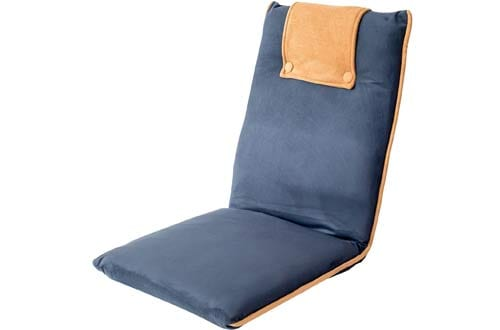 Padded Floor Chair with Adjustable Backrest, Comfortable, Foldable, and Versatile, for Meditation