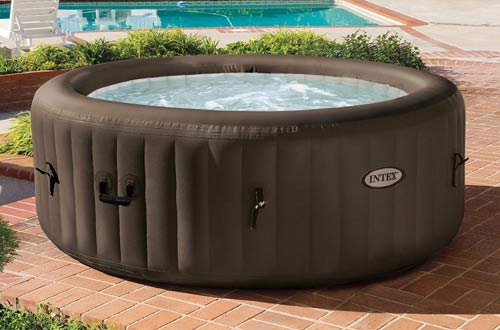 Intex Pure Spa 4-Person Inflatable Portable Heated Jet Message Hot Tub