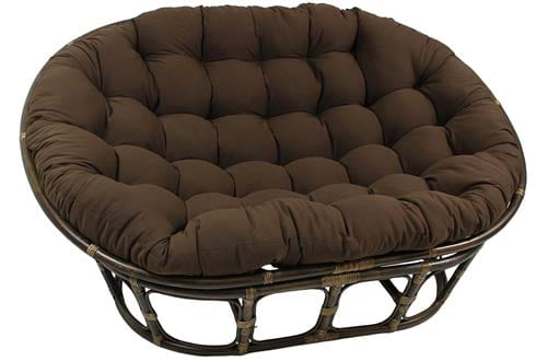 Blazing Needles Solid Twill Double Papasan Chair Cushion