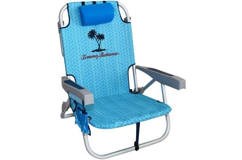 Tommy Bahama Backpack Beach Chairs/ Light Blue + 1 Medium Tote Bag