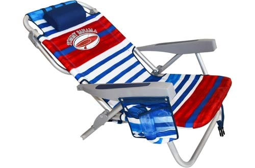 Tommy Bahama Backpack Beach Chairs/ Red White Blue Stripes + 1 Medium Tote Bag