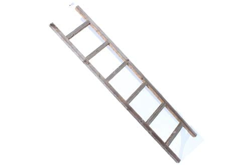 Rustic 6 ft Decorative Ladder - 100% Reclaimed Wood Ladder