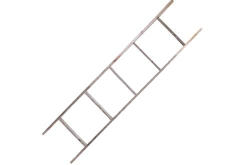 5' Reclaimed Barnwood Rustic Ladder