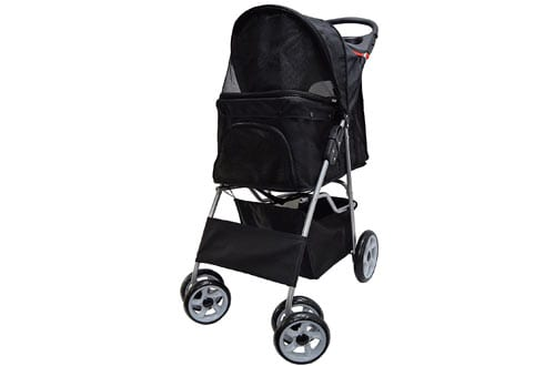 VIVO Four Wheel Pet Stroller, for Cat, Dog