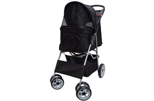 VIVO Four Wheel Pet Stroller, for Cat, Dog