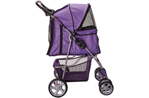 OxGord Pet Stroller Cat/Dog Easy Walk Folding Travel Carrier Carriage