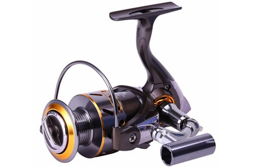 Sougayilang Fishing Reel with Left Right Interchangeable Collapsible Handle