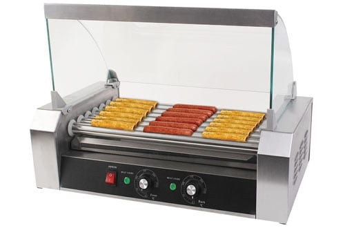 Safeplus Electric Hot-dog Grill Commercial Hotdog Maker Warmer Cooker