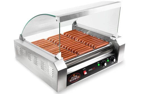 Olde Midway Electric 30 Hot Dog 11 Roller Grill Cooker