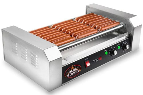 Hot Dog 7 Roller Grill Cooker Machine 900-Watt