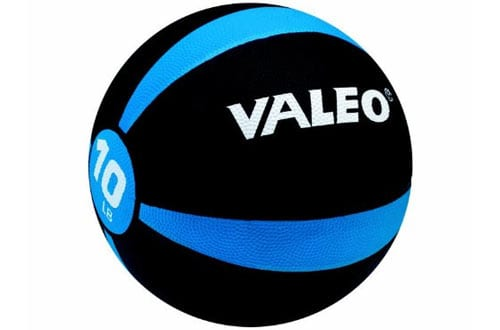 Valeo Medicine Ball With Sturdy Rubber Construction
