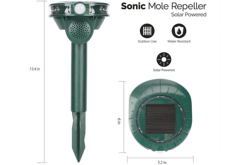 BestGreen AG005-B Weatherproof Sonic Animal Repeller