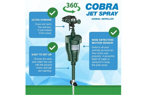 Hoont Cobra Powerful Outdoor Water Jet Blaster Animal Pest Repeller