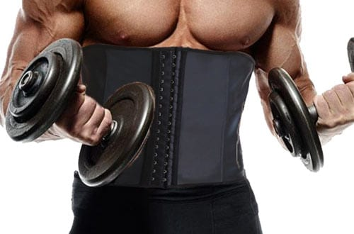 GainKee Latex Men Waist Trainer Corsets