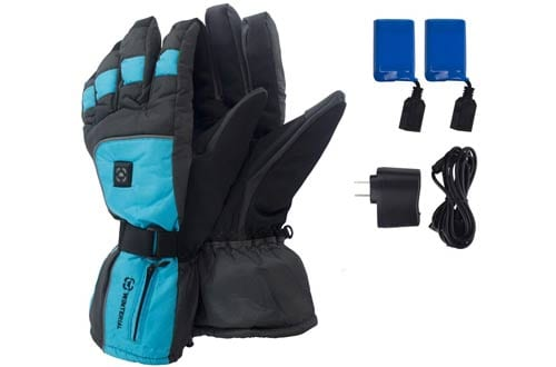Winterial Rechargeable Heated Snowboarding Gloves & Ski Gloves