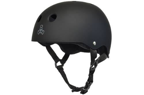Triple 8 All Black Rubber Skateboard Helmet
