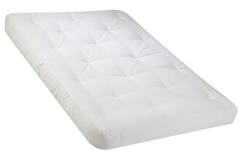 Serta Chestnut Double Sided Foam and Cotton Full Futon Mattress, Natural