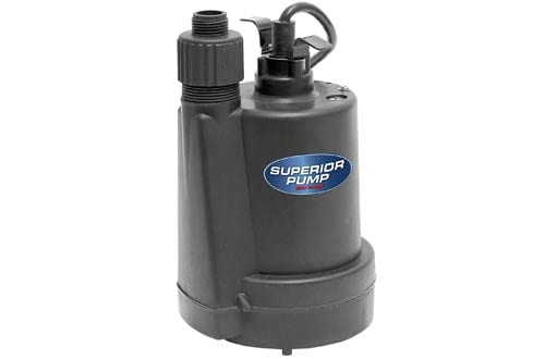 Superior Pump 1/4 HP Thermoplastic Submersible Utility Pump