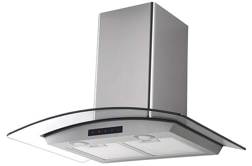 Kitchen Bath Collection HA75-LED Stainless Steel Wall-Mounted Kitchen Range Hood