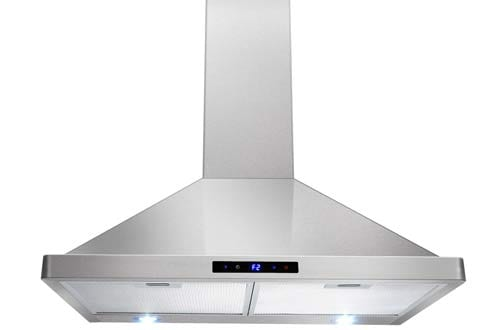 "AKDY 30"" Kitchen Wall Mount Stainless Steel Touch Panel Control Range Hood"