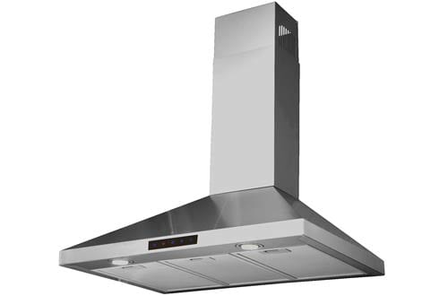 STL75-LED Stainless Steel Wall-Mounted Kitchen Range Hood with High-End LED Lights