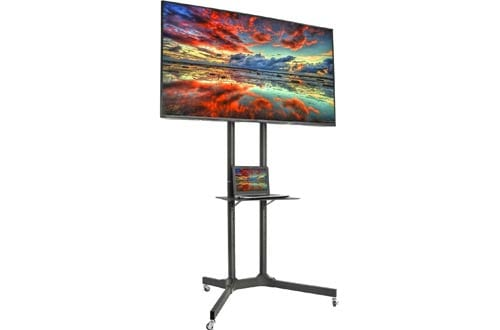 VIVO Black TV Cart for LCD LED Plasma Flat Panel Stand