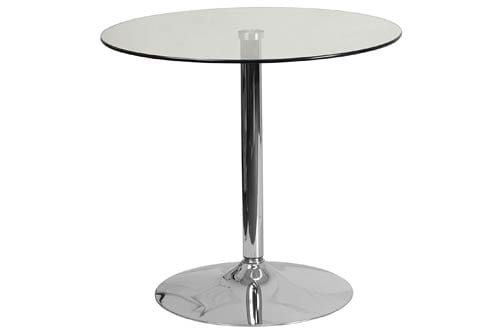 Flash Furniture Round Glass Table With Chrome Base