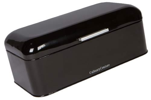 Large Black Bread Box - Powder Coated Stainless Steel