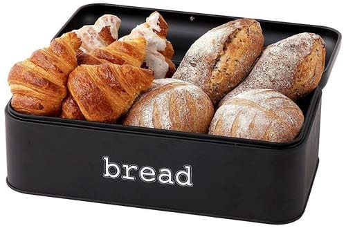 Bread Box for Kitchen - Stainless Steel Bread Bin Storage Container