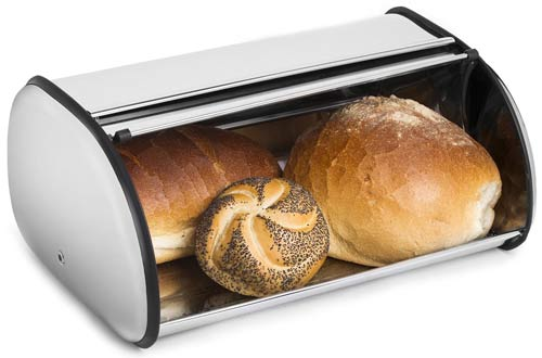 Greenco Stainless Steel Bread Bin Storage Box